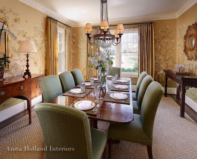 Charlotte interior designers anita holland interiors for Traditional interior design