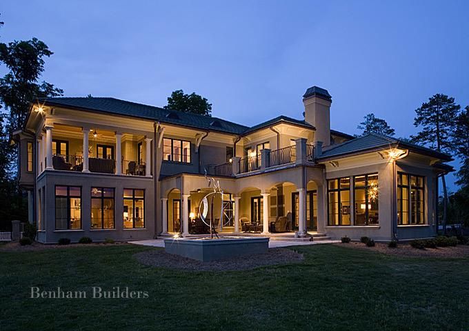 Charlotte custom home builders benham builders nc design for Home builder contractors