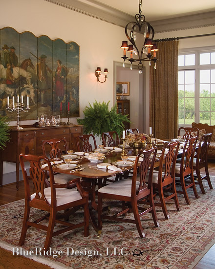 Blue Ridge Dining Room: Western NC, Asheville Interior Designers