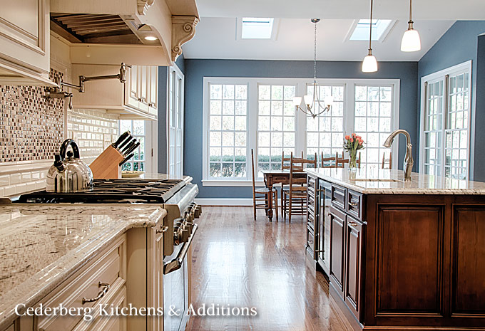 Chapel hill kitchen remodels cederberg kitchens nc design for Kitchen addition plans