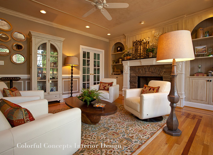 Raleigh interior designers colorful concepts nc design for Traditional interior design