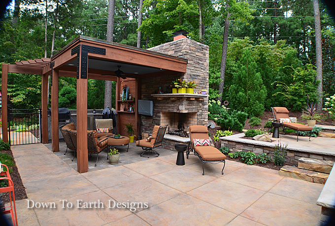 Click to Enlarge; Down To Earth Designs 2 - Raleigh Landscapers Landscaping Raleigh NC Design Online