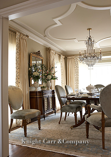 Greensboro interior designers knight carr company nc for Traditional dining room ideas