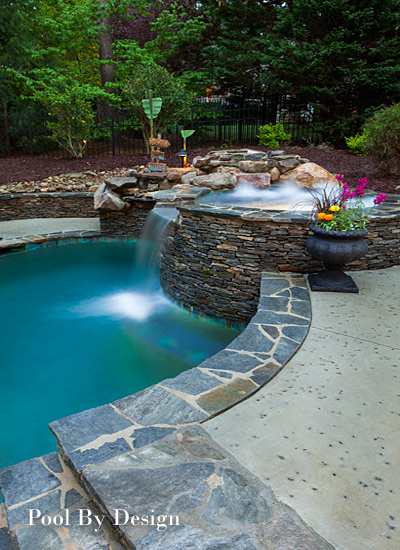 Charlotte pool builder and landscaper pool by design for Pool plans online