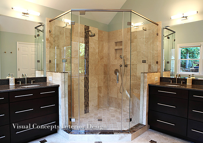 Charlotte interior designers visual concepts nc design for Bathroom interior design concepts