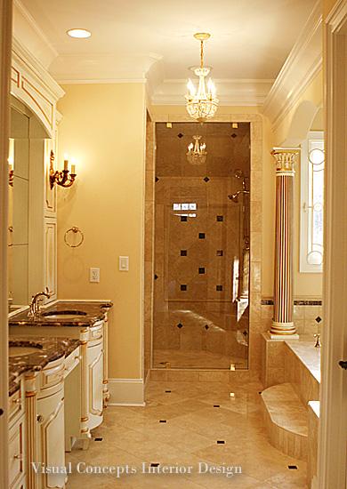 Charlotte interior designers visual concepts nc design for Bathroom interior design charlotte nc